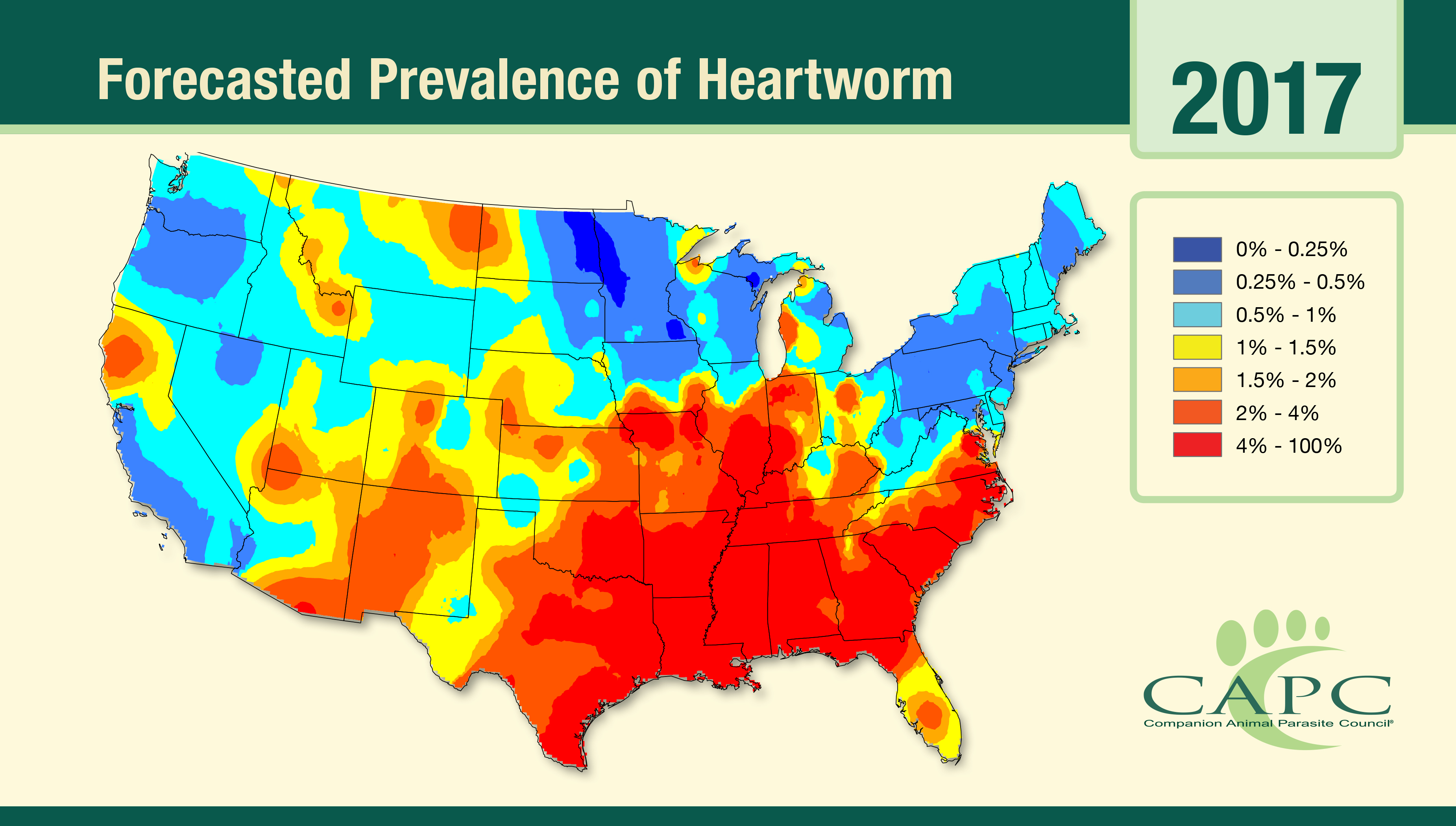 CAPC Forecasts 2017 To Be A Hotbed For Heartworm