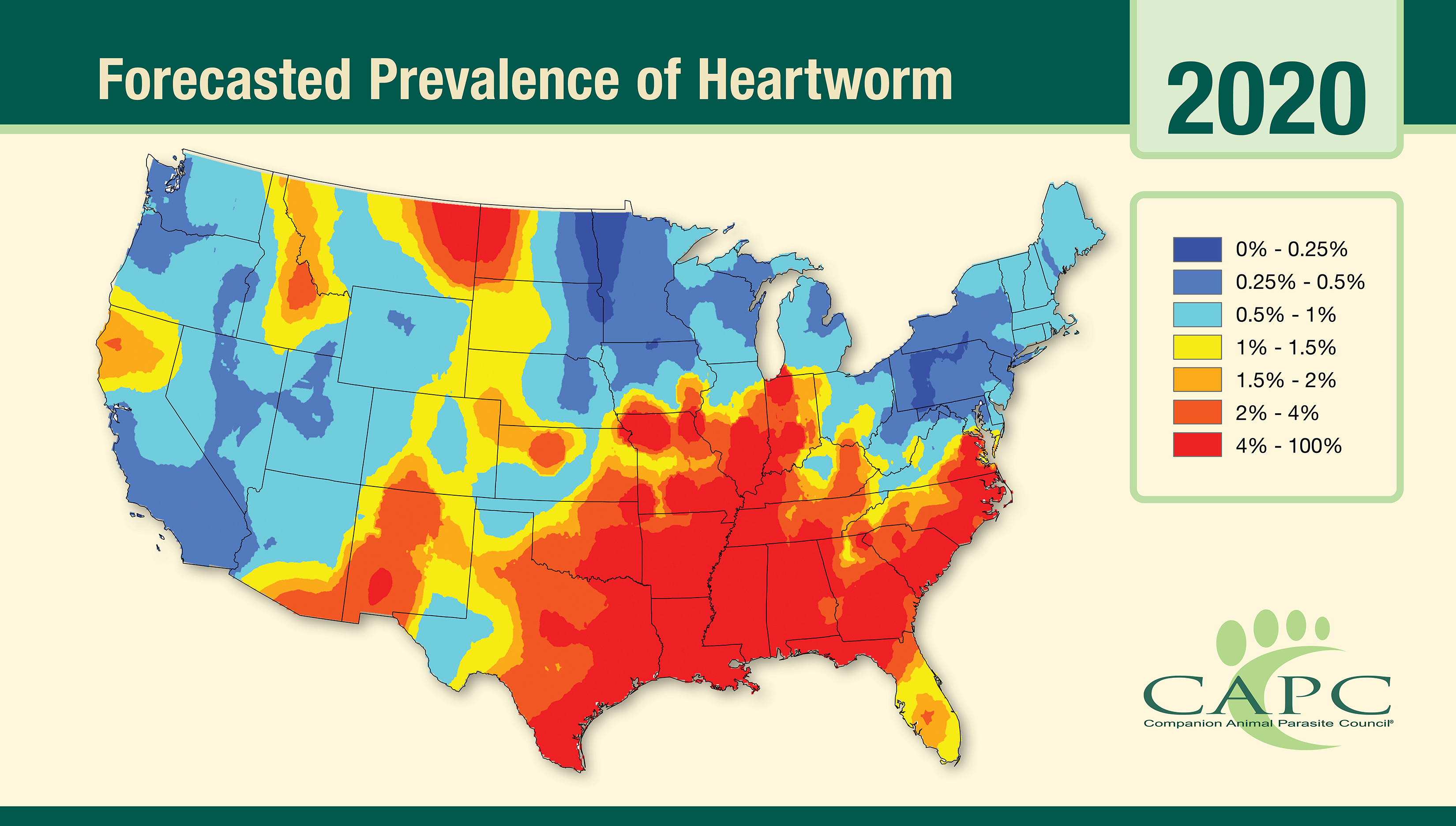 Companion Animal Parasite Council Annual Forecast Is Released -  Heartworm and Lyme Disease Are on the Rise